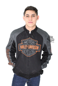 Harley-Davidson® Mens Bar & Shield Logo Mesh Black Functional Jacket