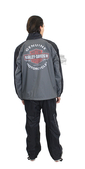 ** SMALL & BIG SIZES ONLY ** Harley-Davidson® Mens Roadway Reflective Grey Rain Suit