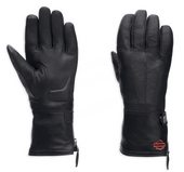 Harley-Davidson® Womens Waterproof with Touchscreen Technology Gauntlet Glove