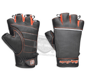 Harley-Davidson® Womens Cora Contrast Stitching with Mesh Black Leather Fingerless Glove