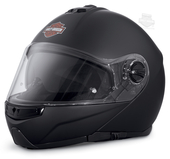 Harley-Davidson® Mens Lincoln B&S M02 with Sun Shield Matte Black Full Face Modular Helmet