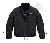 ** SIZE MEDIUM ONLY ** Harley-Davidson® Mens Heated Waterproof Reflective Dual Source 12V Black Functional Jacket