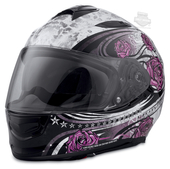 Harley-Davidson® Womens Landscape Airfit™ Liner X03 with Sun Shield White Full Face Helmet