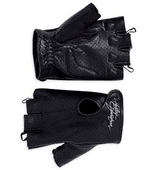 Harley-Davidson® *GMAR* Womens Perforated Fingerless Leather Gloves