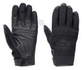 Harley-Davidson® Mens Cavalier B&S Mesh with Comfort Seams Black Polyester Full Finger