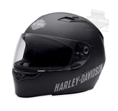 Harley-Davidson® Mens Fulton B&S Click and Release Anti Fog Matte Black Full Face Helmet