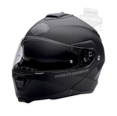 Harley-Davidson® Mens Capstone B&S Retractable Sun Shield Matte Black Full Face Modular Helmet