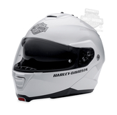 Harley-Davidson® Mens Capstone B&S Retractable Sun Shield White Full Face Modular Helmet