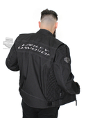 Harley-Davidson® Mens Competition Reflective Waterproof Black Functional Jacket