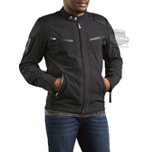** SMALL SIZES ONLY ** Harley-Davidson® Slim Fit Mens Raven Water Resistant Textile Black Functional Jacket
