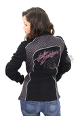 ** SMALL SIZES ONLY ** Harley-Davidson® Womens Pink Label Fleece Mock Neck Black Casual Jacket *CYB*