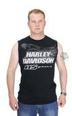 Harley-Davidson® Mens 115th Anniversary Black Label Slim Fit Black Sleeveless Muscle T-Shirt