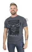 Harley-Davidson® Mens 115th Anniversary Eagle Black Label Slim Fit Grey Short Sleeve T-Shirt