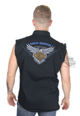 Harley-Davidson® Mens 115th Anniversary Enzyme Wash Black Sleeveless Blowout