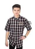 Harley-Davidson® Mens Genuine Classics #1 Enzyme Garment Wash Plaid Short Sleeve Woven Shirt