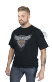 Harley-Davidson® Mens 115th Anniversary Enzyme Wash Black Short Sleeve T-Shirt