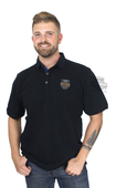 Harley-Davidson® Mens 115th Anniversary Coldblack® Technology Black Short Sleeve Polo