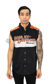 ** SIZE SMALL ONLY ** Harley-Davidson® *GMAR* Mens Prestige Blowout Orange Sleeveless Shirt