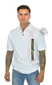 Harley-Davidson® Mens Flames B&S White Short Sleeve Polo