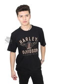 Harley-Davidson® Mens #1 Genuine Classics Graphic Black Short Sleeve T-Shirt