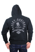 Harley-Davidson® Mens Wounded Warrior Project® #1 Logo Full Zip Black Long Sleeve Hoodie 99059-16VM