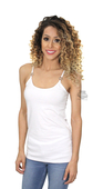 ** SMALL & BIG SIZES ONLY ** Harley-Davidson® Womens Basic H-D B&S Logo White Sleeveless Cami