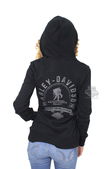 Harley-Davidson® Womens Wounded Warrior Project® B&S Logo Full Zip Black Long Sleeve Hoodie