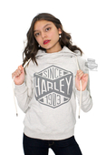 Harley-Davidson® Slim Fit Womens Black Label Since 1903 French Terry Pullover Off White Long Sleeve Hoodie
