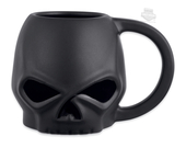 Harley-Davidson® Matte Willie G Skull 14 oz. Ceramic Black Mug