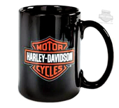 Harley-Davidson® Mens B&S Logo Decal 15 oz Ceramic Black Mug