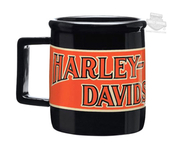 Harley-Davidson® Mens Transportation H-D Name 14 oz Ceramic Black Mug