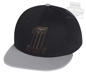 ** BIG SIZES ONLY ** Harley-Davidson® Mens #1 Skull Colorblocked 59FIFTY® by New Era 5950 Black Cotton Fitted Baseball C