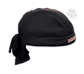 Harley-Davidson® Mens Pinstriped Flames with B&S Quick Dry Black Polyester Skull Cap