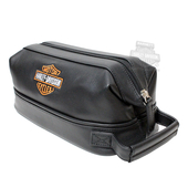 Harley-Davidson® Leather Toiletry Travel Bag