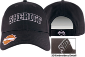 Harley-Davidson® Mens Sheriff 3D Embroidered Black Cotton Baseball Cap