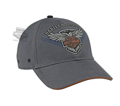 Harley-Davidson® Mens 115th Anniversary Eagle BHD Custom Grey Cotton Baseball Cap