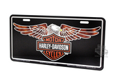 Harley-Davidson® Black Front License Plate B&S with Eagle Classic Tagz™