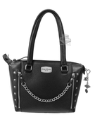 Harley-Davidson® Womens Chain Gang Black Leather Satchel