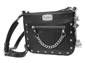 Harley-Davidson® Womens Chain Gang Crossbody Black Leather Purse