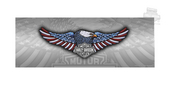 Harley-Davidson® Patriotic Eagle with B&S Rear Window Tintz Decal