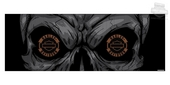 Harley-Davidson® Skull Eyes with B&S Logo Rear Window Tintz Decal
