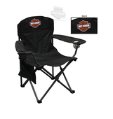 Harley-Davidson® B&S with Drink Holder XL Black Compact Chair