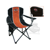 Harley-Davidson® Long B&S XL Black Compact Chair