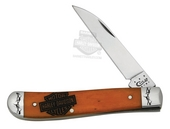 Harley-Davidson® Mini Trapper 6107W SS with Persimmon Orange Bone Handle Knife by Case XX