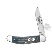 Harley-Davidson® Sowbelly TB6139 SS Gray Bone Handle Knife by Case XX