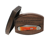 Harley-Davidson® Mini CopperLock® Gift Set 61749L SS Jigged Persimmon Orange Handle Black Knife by Case XX