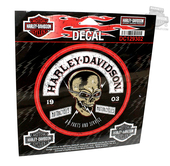 ** 3 for $10 ** Harley-Davidson® Skull Rockers Small Decal