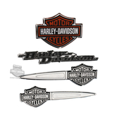 Harley-Davidson® B&S Collection 4 Per Sheet Dome Decal