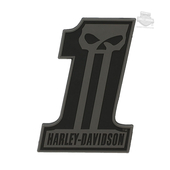 Harley-Davidson® #1 Skull Soft PVC X-Small 3D Decal