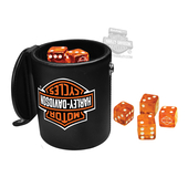 Harley-Davidson® B&S Logo Leatherette Dice Cup